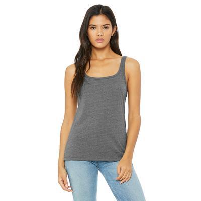 Bella + Canvas 6488 Women's Relaxed Jersey Tank Top in Deep Heather size Medium   Cotton