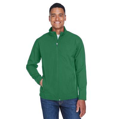 Team 365 TT80 Men's Leader Soft Shell Jacket in Sport Dark Green size XL