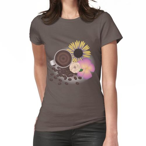 Kaffee und Blumen Frauen T-Shirt