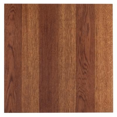 "Sterling 12"" x 12"" Self Adhesive Vinyl Floor Tile - 45 Tiles/45 sq. Ft by Achim Home Dcor in Medium Oak"