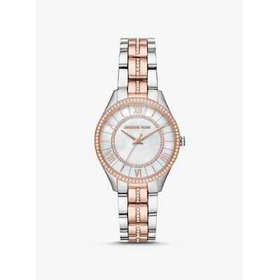 Michael Kors Mini Lauryn Pave Two-Tone Watch Silver ONE SIZE