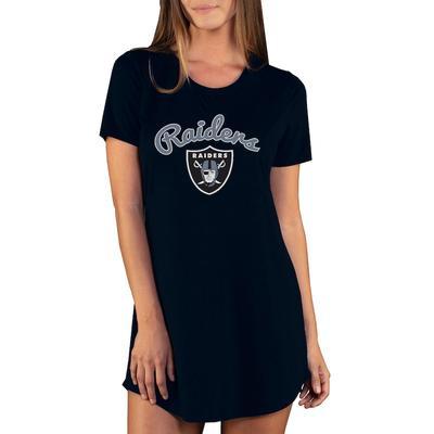 Las Vegas Raiders Concepts Sport Women's Marathon Knit Nightshirt - Black