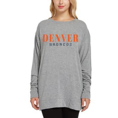 Denver Broncos Concepts Sport Women's Rapture Long Sleeve Top - Gray