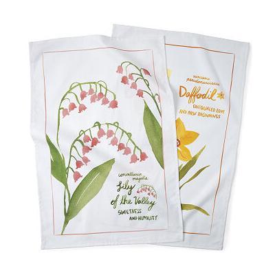 Birth Month Flower Tea Towels