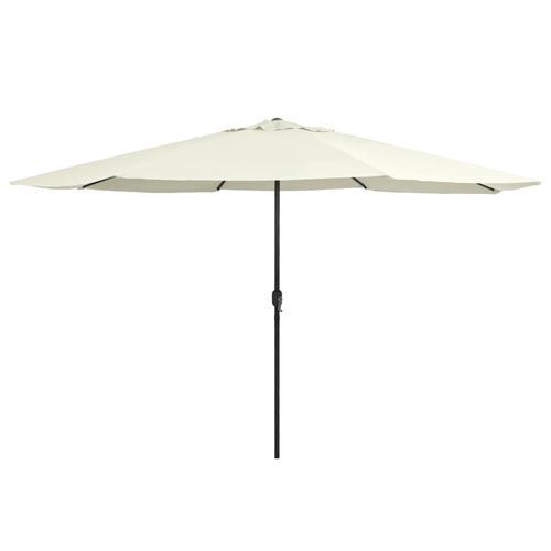 vidaXL Sonnenschirm mit Metall-Mast 400 cm Sandweiß