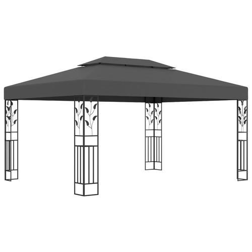 vidaXL Pavillon mit Doppeldach 3x4 m Anthrazit