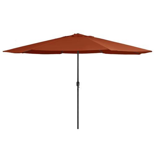 vidaXL Sonnenschirm mit Metall-Mast 400 cm Terrakotta-Rot