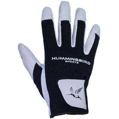 Hummingbird Sports Women's Leather Lacrosse Gloves Gray/Black