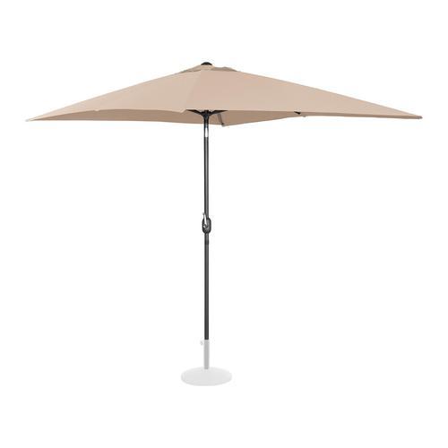 Uniprodo Sonnenschirm groß - creme - rechteckig - 200 x 300 cm - neigbar