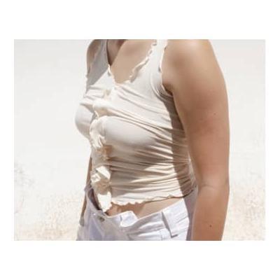Baserange - Off White Cotton Rib Tacca Camisole - xtra small