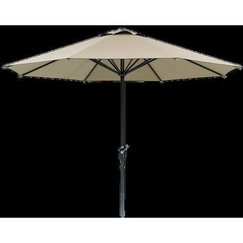 Schneider Sonnenschirm Korsika, Stahl / Polyester, Ø 320 x 250 cm, beige