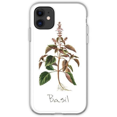 Basilikum-Kräuter-, Basilikum-Print, Basilikum, Basilikum Kunstdruck Flexible Hülle für iPhone 11