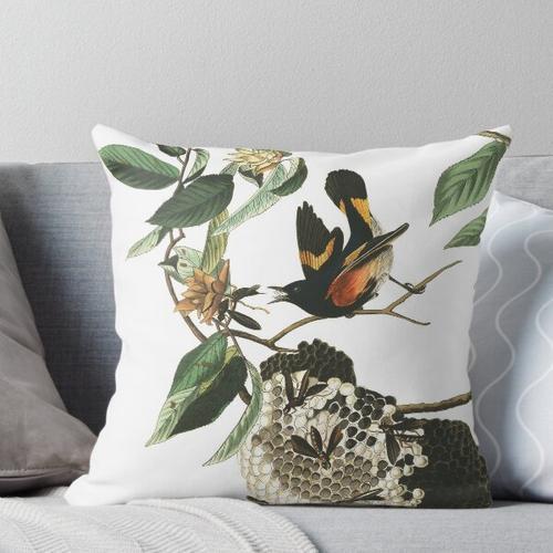 Amerikanischer Gartenrotschwanz - John James Audubon Kissen