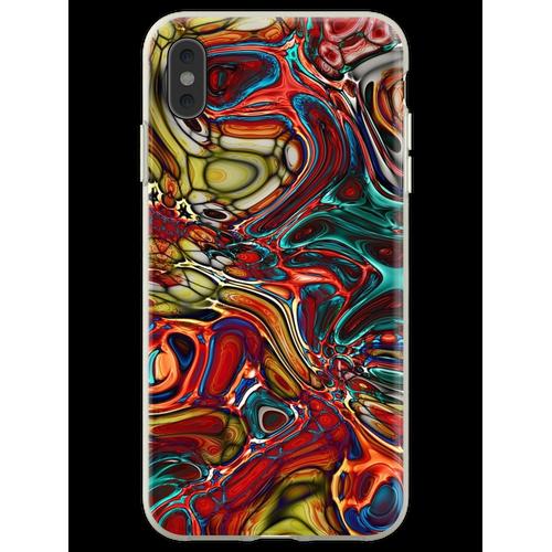 Abstrakte Glasfliese Flexible Hülle für iPhone XS Max