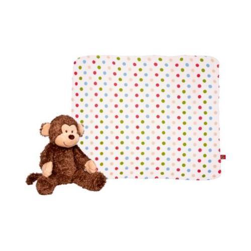 BabyGlück: Geschenkset Plüschaffe und Decke