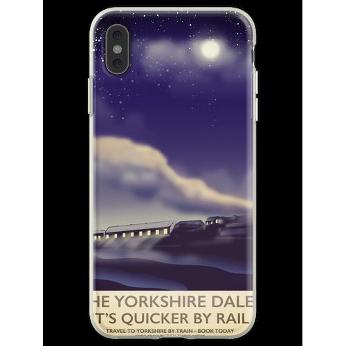 Das Yorkshire Dales Eisenbahnplakat Flexible Hülle für iPhone XS Max