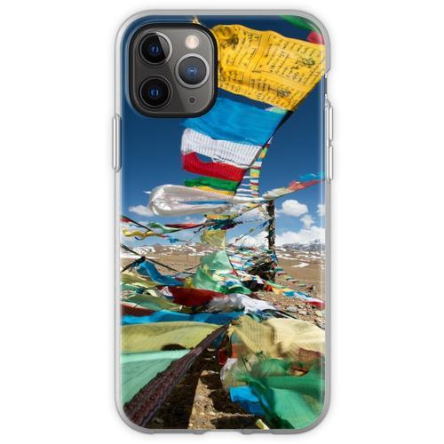 Betende Fahnen in Tibet Flexible Hülle für iPhone 11 Pro