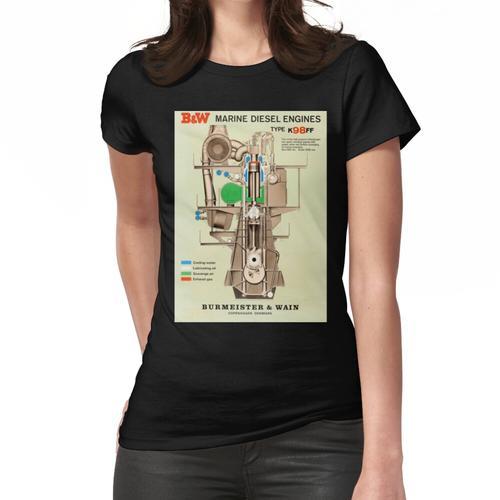 Marine Dieselmotor Frauen T-Shirt