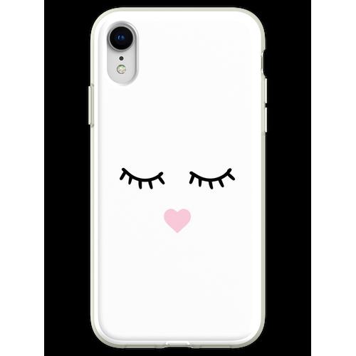 Süße Wimpern - Wimpern, Mascara Flexible Hülle für iPhone XR