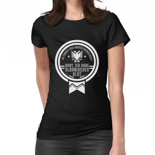 Albanisches Blut Albanien Albaner Frauen T-Shirt