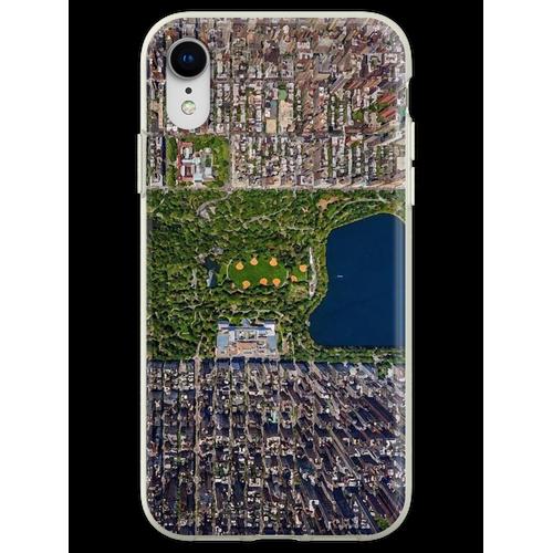 Luftbild von New York Flexible Hülle für iPhone XR