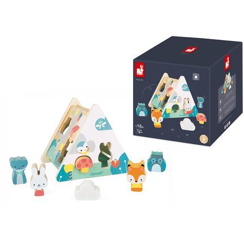 Janod Steckspielzeug Pure bunt Kinder Holzspielzeug
