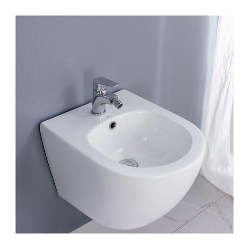 Homelody - Hochwertiges Hänge Wand Bidet Spülrandloses Sanitärkeramik Weiß Bidete ohne Bidet Armatur