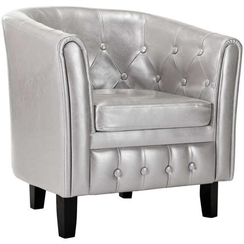 Vidaxl - Sessel Kunstleder Silbern