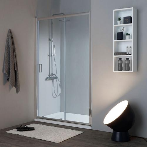 Duschhalterung Für Nische 130 Cm Umkehrbar Transparent Kristallglas New Giada