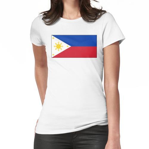Philippinen. Philippinische Flagge, Flagge der Philippinen. Frauen T-Shirt