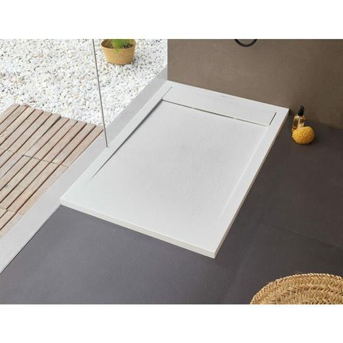 BB NEW YORK Rechteckige Duschwanne 120 x 80 x 2,5 cm weiß