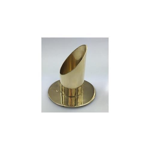Kerzenleuchter Messing Gold poliert für Ø 100 mm für Kerzen, Altarkerzen, Hochzeitskerzen