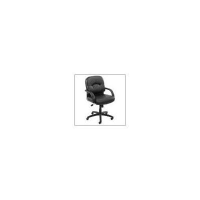 Boss Office Products Black Caressoft Managerial Chair with Tilt Tension Control Tilt Mechanism