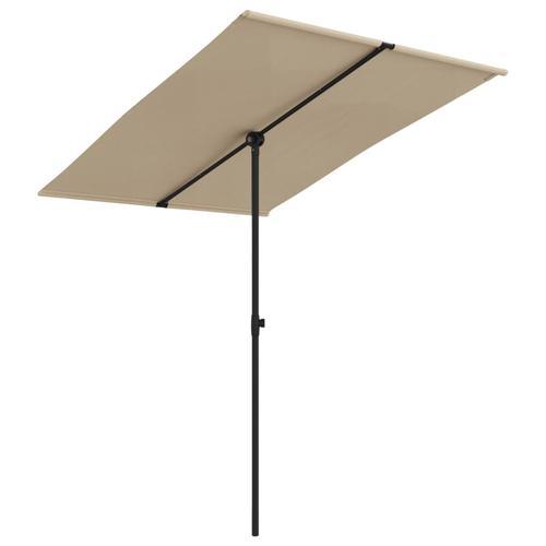 vidaXL Sonnenschirm mit Aluminium-Mast 2x1,5 m Taupe