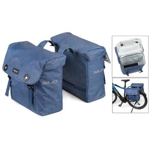 XLC Gepäckträgertasche Doppelpacktasche blau Rad-Ausrüstung Radsport Sportarten