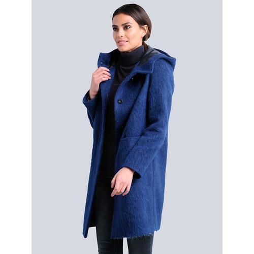 Alba Moda, Jacke in Flausch-Optik, blau