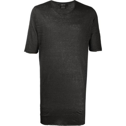 Avant Toi Lockeres T-Shirt aus Leinen