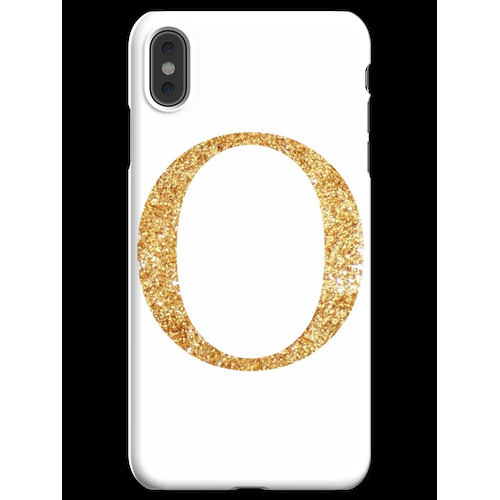 Gold Omicron iPhone XS Max Handyhülle