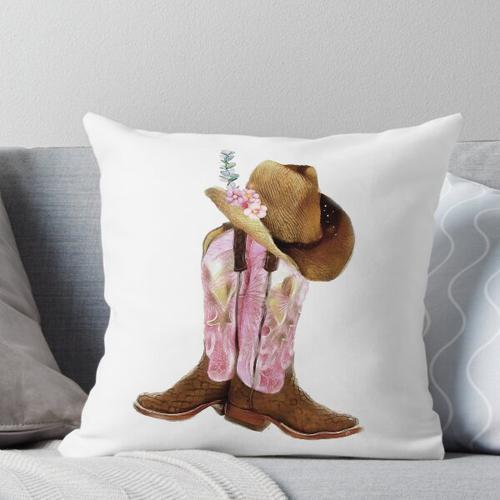 Cowgirl Stiefel Kissen