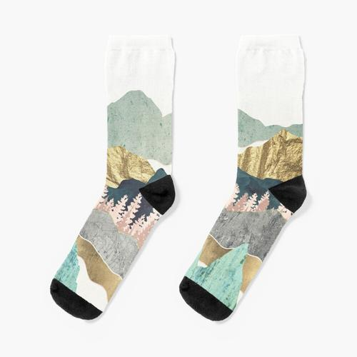 Berge und Gold Socken