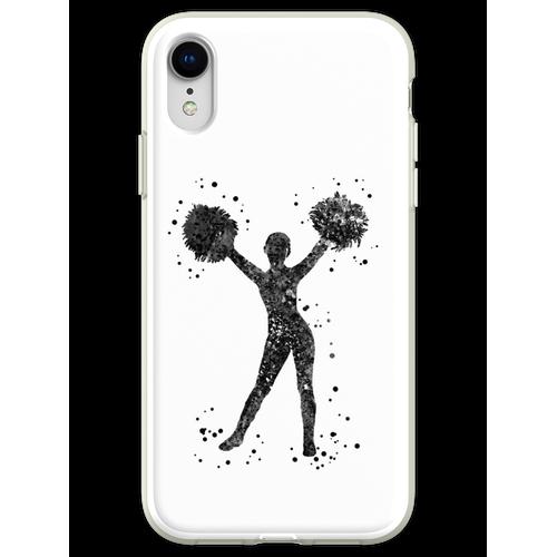 Cheerleader, Cheerleader, Aquarell-Cheerleader Flexible Hülle für iPhone XR