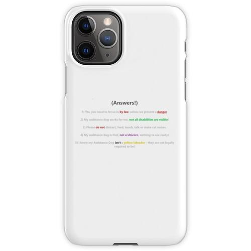 Assistenzhund FAQ iPhone 11 Pro Handyhülle
