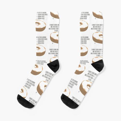 Frischkäse Bagel Socken