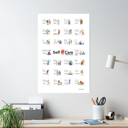 Self-Care Alphabet Poster