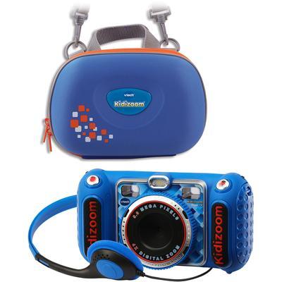 Vtech Kinderkamera KidiZoom Duo DX, blau, 5 MP, inkl. Tragetasche blau Kinder Kidizoom Elektronikspielzeug