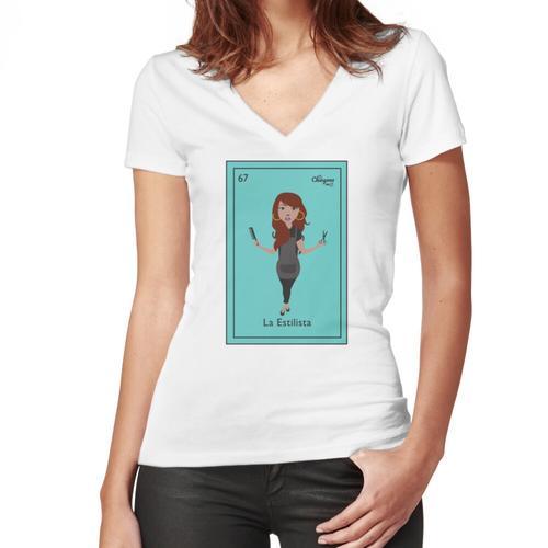 La Estilista Women's Fitted V-Neck T-Shirt