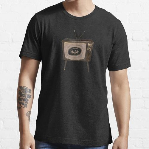 Fernsehauge-Weinlese Fernsehen mit Augenhippie-T-Shirt Essential T-Shirt