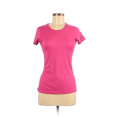Nike Active T-Shirt: Pink Solid ...