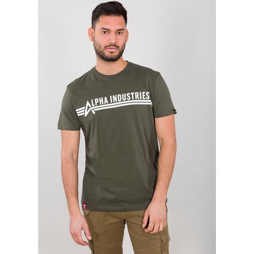 Alpha Industries Rundhalsshirt ALPHA INDUSTRIES T grün Herren Shirts