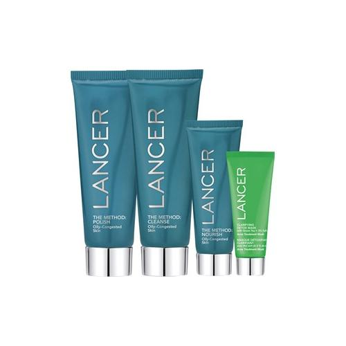 Lancer Pflege The Method: Face Oily-Congested Set The Method: Polish 60 ml + The Method: Cleanse 60 ml + The Method: Nourish 22 ml + Clarifying Detox Mask 4,4 ml + Beauty Bag 1 Stk.